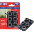REX 1049 Door Bumper Black Round 6 ocs/pack