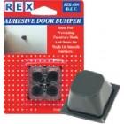 REX 1050 Door Bumper Black Square 4 pcs/pack