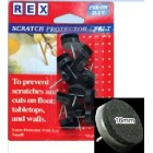 REX 1068G Felt Scratch Protector 16mm Grey 12pcs/pack