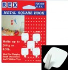 REX 1084 Metal Square Hook 5pcs/pack