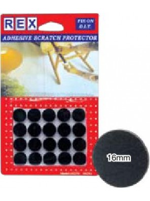 REX 1025 Cotton Grey Felt-16mm 20 pcs/pack