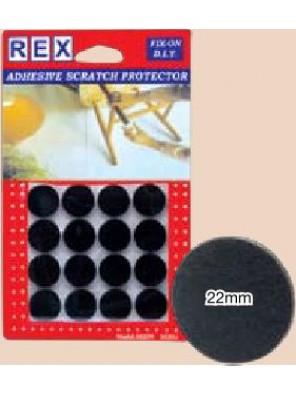 REX 1026 Cotton Grey Felt 22mm 16 pcs/pack