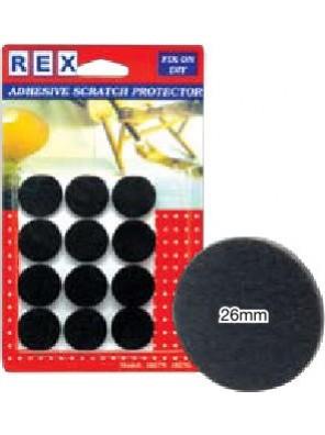 REX 1027 Cotton Grey Felt 26mm 12 pcs/pack