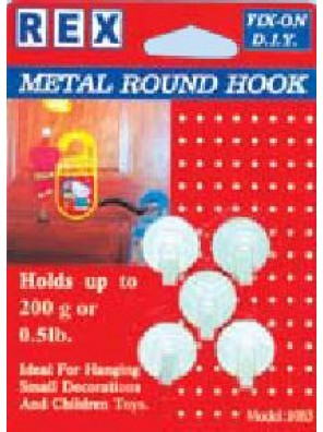 REX 1083 Metal Round Hook 5pcs/pack