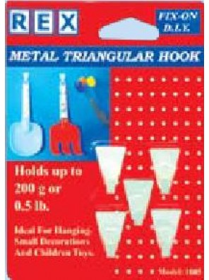 REX 1085 Metal Triangle Hook 5pcs/pack