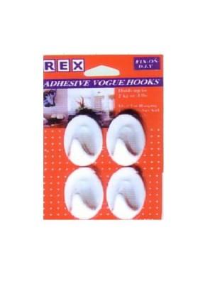 REX 1214 Adhesive Vogue Hook 4pcs/pack