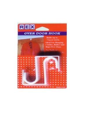 REX 1221 Over The Door Hook 2pcs/pack