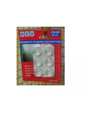 REX 1256 Door Bumper Clear 6pcs/pack