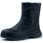 "KING Shoe 10"" Black Full Leather Pull Up Boot KWD805/09"