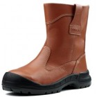 "KING Shoe 10"" Orange Full Leather Pull Up Boot KWD805C/09"