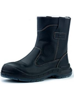 "KING Shoe 10"" Black Full Leather Pull Up Boot KWD805/12"