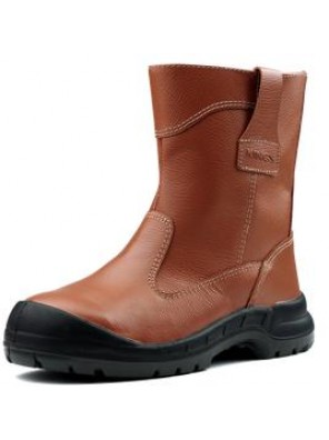 "KING Shoe 10"" Orange Full Leather Pull Up Boot KWD805C/12"