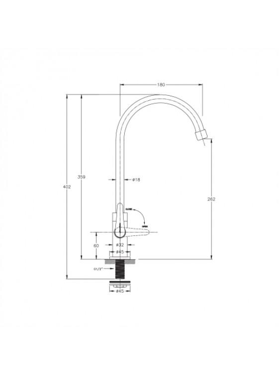 JOHNSON SUISSE Fermo Deck Sink Tap WBFA300933CP