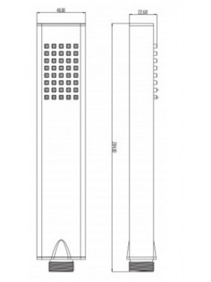 J.SUISSE ARCTIC Hand Shower c/w 1  Function WBFA300708CP