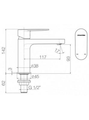 """J.SUISSE  FERLA-N Single 1/2"""" Basin Pillar Tap WBFA301311CP"""