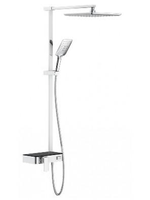 JOHNSON SUISSE W/Mounted Shower Mixer Column w/Diverter WBFA301216CP