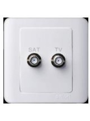 SIMTONE 1 Gang TV + ASTRO (White)-35119S-WW