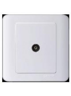 SIMTONE 1 Gang TV Outlet(White)35111-WW