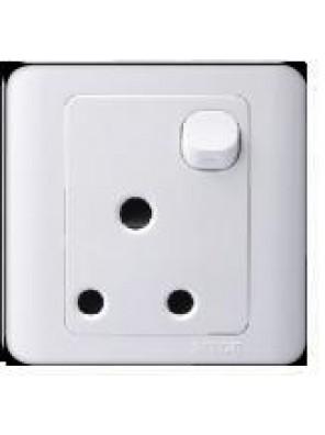 SIMTONE 15A 1 Gang Round Pin Socket(White)-31582-WW