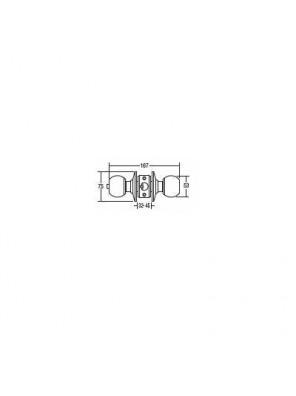 St.Guchi  Cylindrical Lock; Passage-60mm Backset SGCD-36230