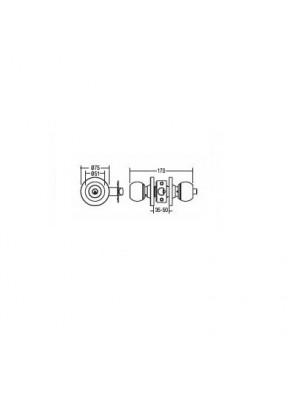St.Guchi  Cylindrical Lock; Entrance-60mm Backset SGCD-4100