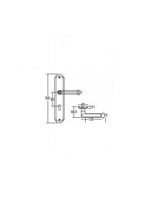 St.Guchi  Lever Handle With Plate Lockset (Sssp) SGLHP-88501