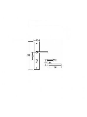 St.Guchi  Lever Handle With Plate Lockset (Sssp) SGLHP-98504