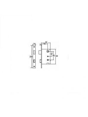 St.Guchi  Mortise Gripset; 60mm Backset; SGMH-6080/1208/54