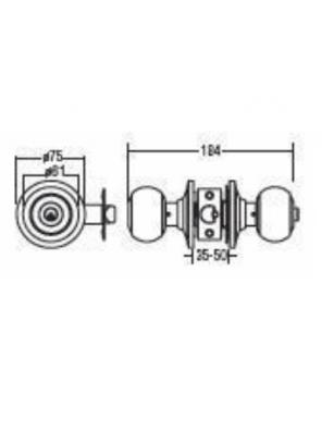 St.Guchi  Cylindrical Lock Entrance-60mm Backset SGCD-4200
