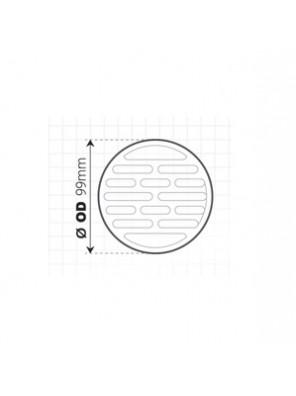 "TECHPLAS 100mm (4"") Plastic Single Grating (Round) Code:3114"