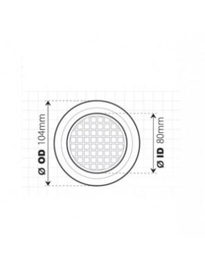 "TECHPLAS 100mm (4"") Plastic Double Grating (Round) Code:3115"