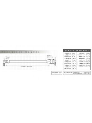 "TECHPLAS 12"" PVC Flex.Hose c/w Long Nut Code:4106-LLN"