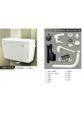TECHPLAS 6L S/Flush L/Level Cistern (White) 1001-LL II