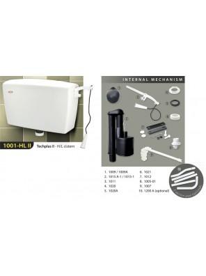 TECHPLAS 6L  Techplas II H/Level Cistern (White) 1001-HL II