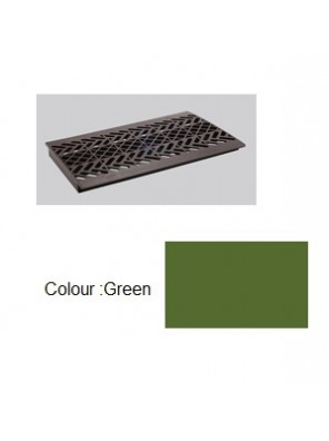 "TECHPLAS PLT. Drain Cover Green 9""x17"" Code:5120"