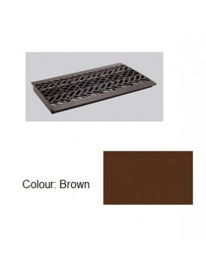 "TECHPLAS PLT. Drain Cover Grey 9""x17"" Code:5120"