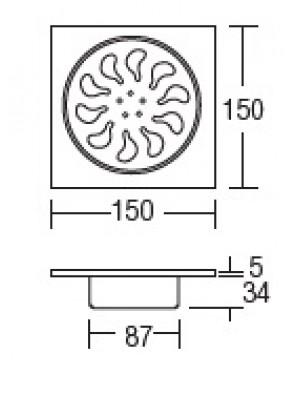 HEAD Stainless Steel Floor Grating HDFG-701