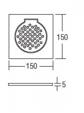 """HEAD 6"""" Stainless Steel Floor Grating HDFG-706"""