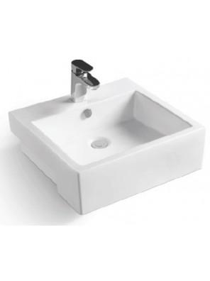ZELLA Semi-recessed Countertop Basin (White) L-405