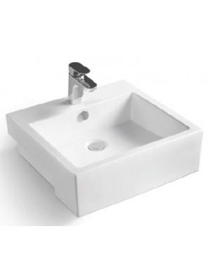 ZELLA Semi-recessed Countertop Basin (White) L-406