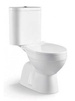 ZELLA Wash Down 2Piece Water Closet S Trap200mm(WHITE)C-100S