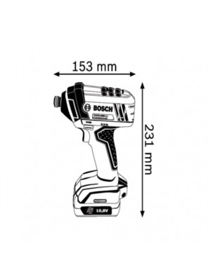 BOSCH 10.8 V Li-Ion Cordless Impact Driver GDR 1080-LI