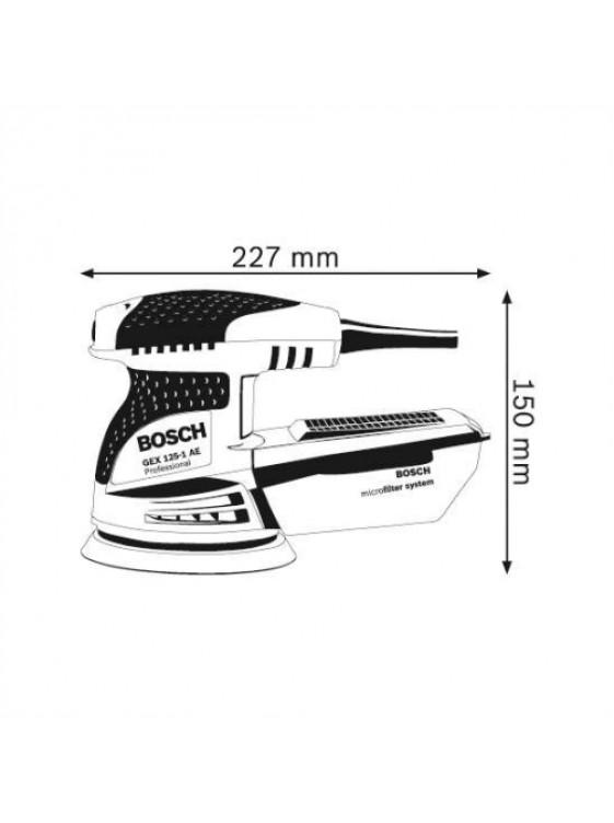 BOSCH 250W Eccentric Sander GEX 125-1 AE