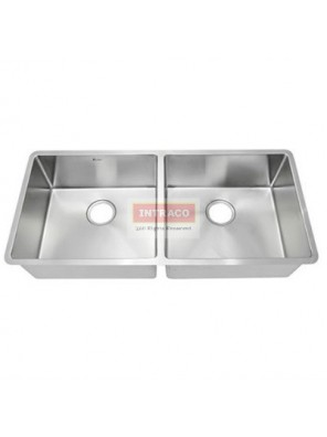 AIMER S/S SUS 304 Undermount Double Bowl Kitchen Sink C/w S/Steel Waste - AMKS-9744