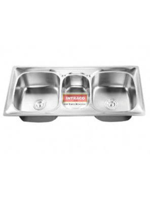 AIMER S/S SUS 304 Top Mount Triple  Bowl Kitchen Sink Come With S/S Waste AMKS1054923
