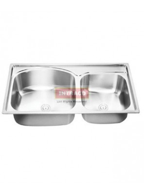 AIMER S/S SUS 304 Double Bowl Kitchen Sink C/W Waste AMKS824522