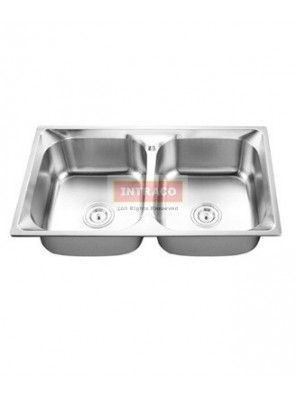 AIMER S/S SUS 304 Double Bowl Kitchen Sink C/W Waste AMKS824823