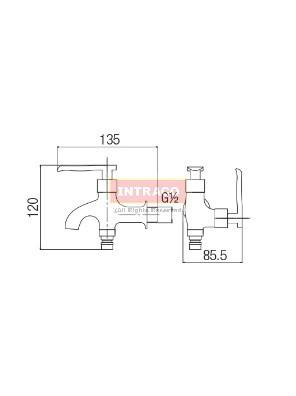 AIMER Brass Chrome Two Way Tap AMFC-1309