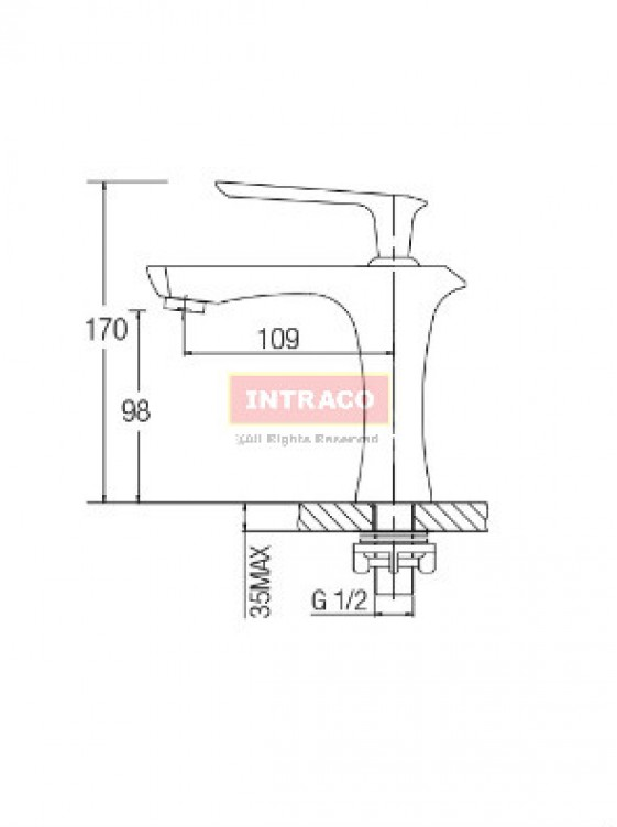 AIMER Brass Satin Nickel Basin Pillar Cold Tap AMFC-6550