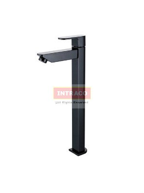 AIMER Brass Black Basin Tall Cold Tap AMFC-7571